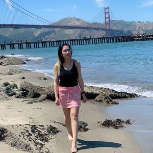 Pink stripes skirts